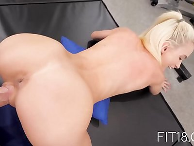 Fit18 - Kiara Cole - 90lbs Tiny Naive American Teen - 60FPS